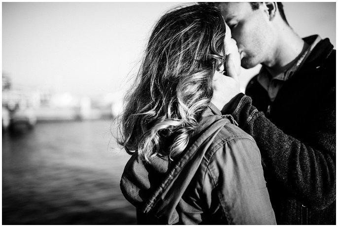 intimate Oakland CA engagement photo