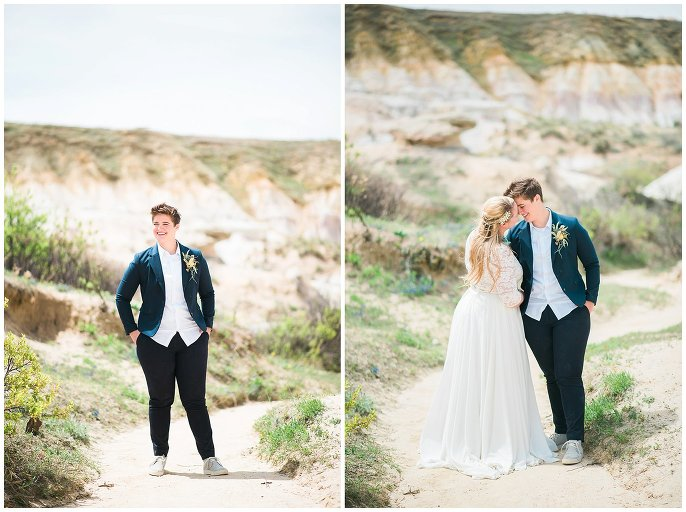 same-sex couple at the colorado paint mines photo