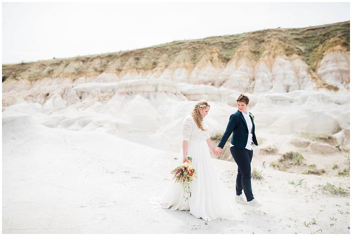 Intimate Colorado Paint Mines Elopement photo