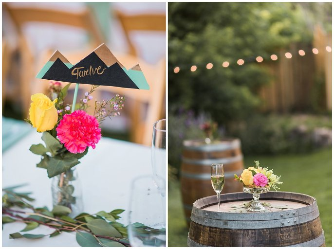 colorful mountain wedding decorations photo