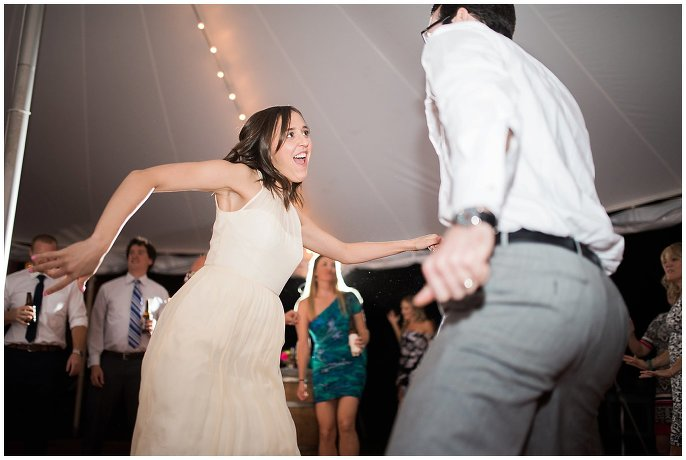 dance party at outdoor wedding