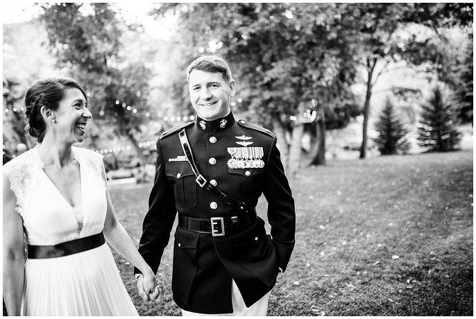 colorado military wedding photo