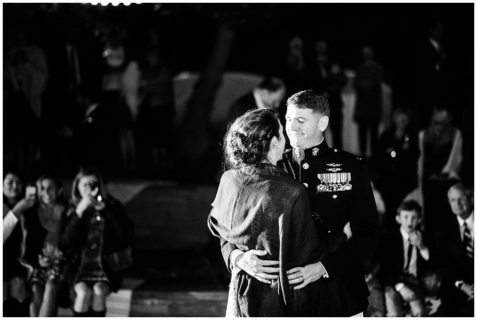 military wedding first dance photo