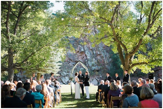 Lyons River Bend Intimate Colorado Wedding