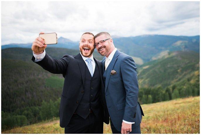 Vail Wedding Deck Gay Wedding photo