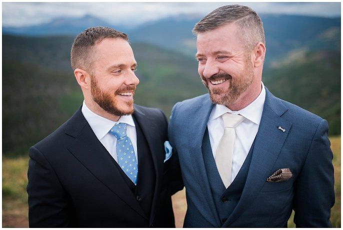 Intimate Vail Wedding Deck Same-sex Wedding Photo