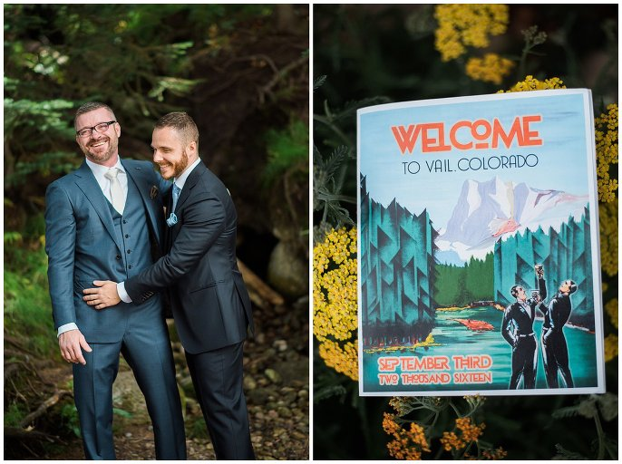 Vail colorado same-sex wedding photo