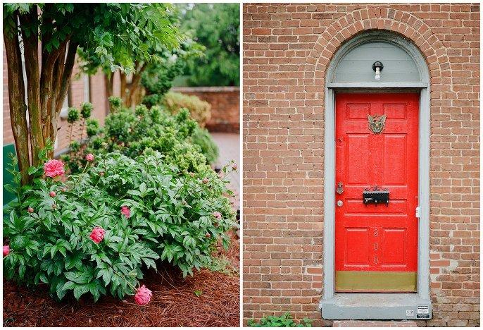 red door in Salem, NC