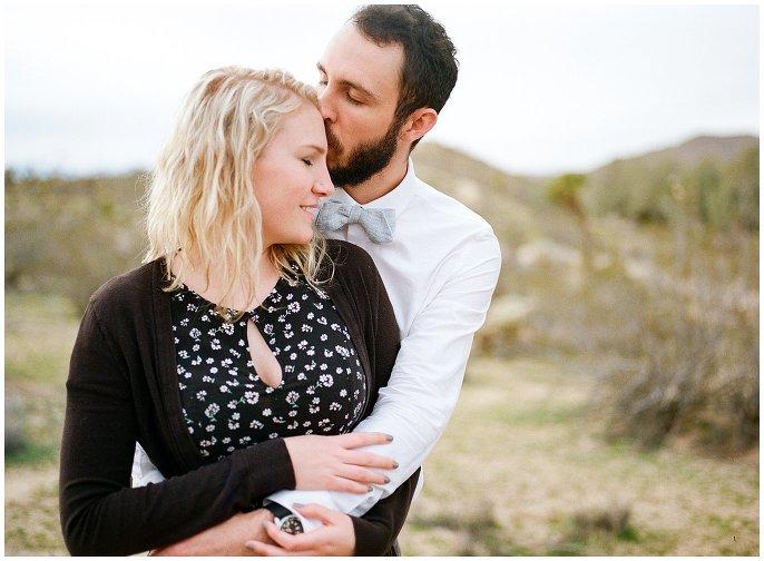 engaged couple at Joshua Tree Retreat Center