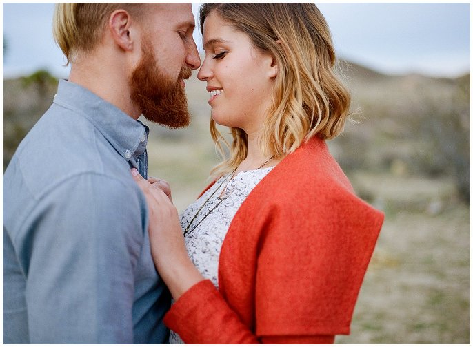 engagement in the desert photo