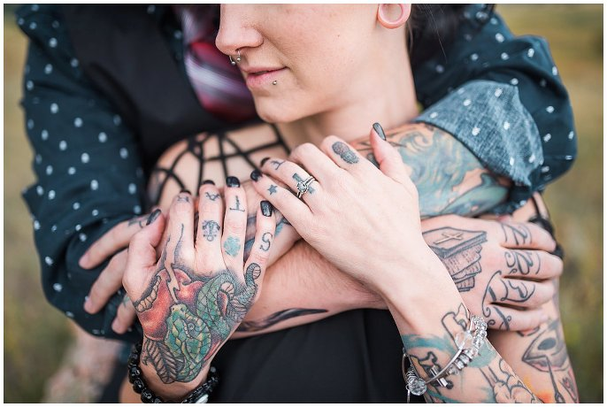 engagement session with tattoos photo