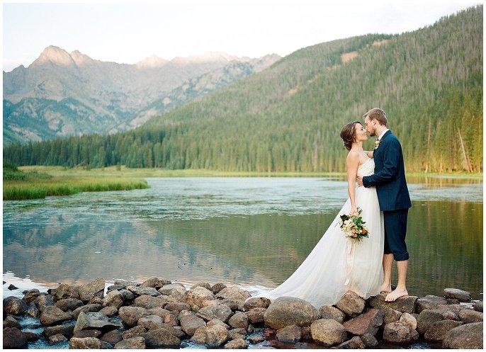 couple by Colorado lake photo
