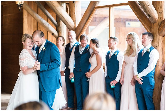 first dance at Colorado mountain wedding p photo