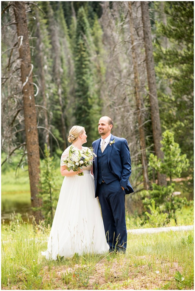 Vail mountain wedding photo