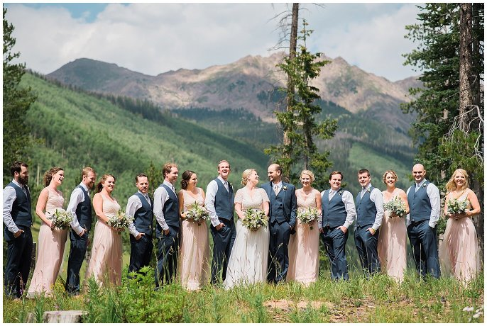 Piney River Ranch bridal party photo