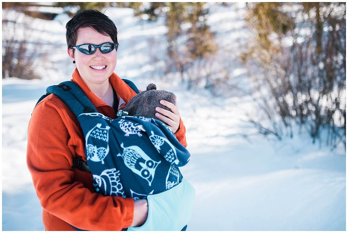 snowshoeing with a baby