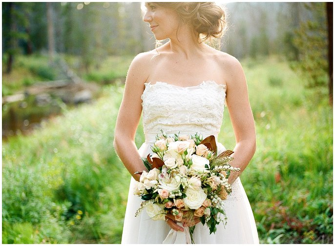 rustic ivory and copper wedding bouquet photo