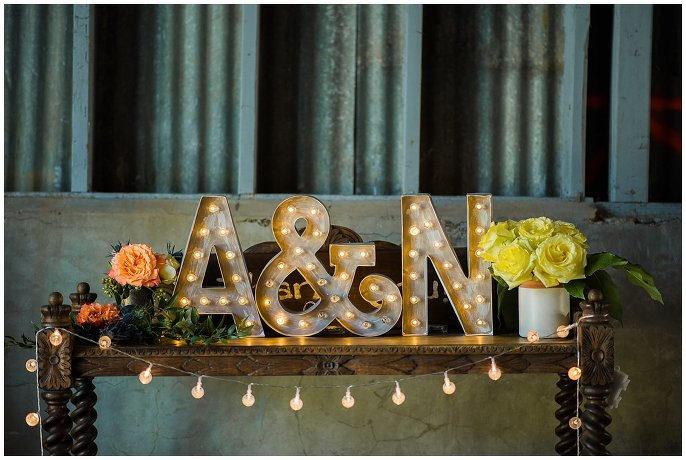 lights and flowers farm wedding