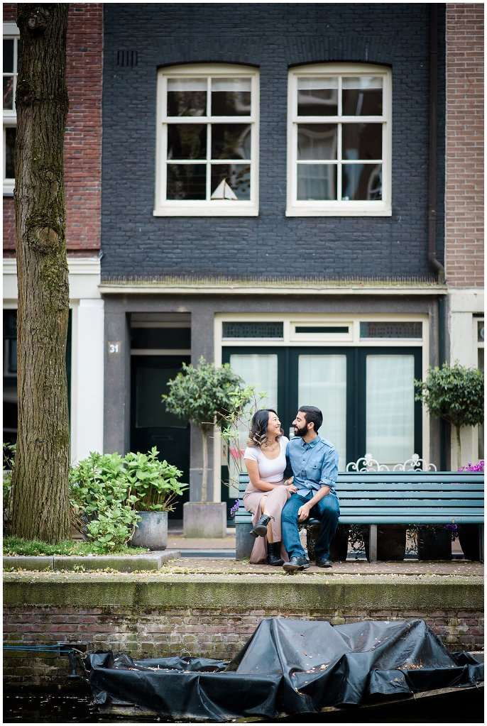 Netherlands canal engagement photo