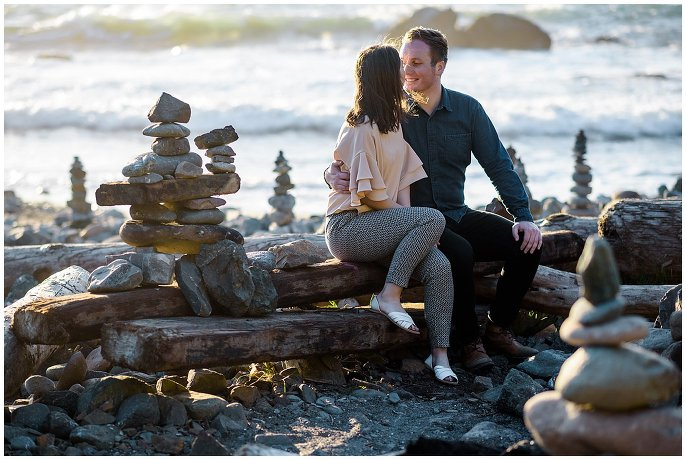 engagement photos on the rocky california coast photo